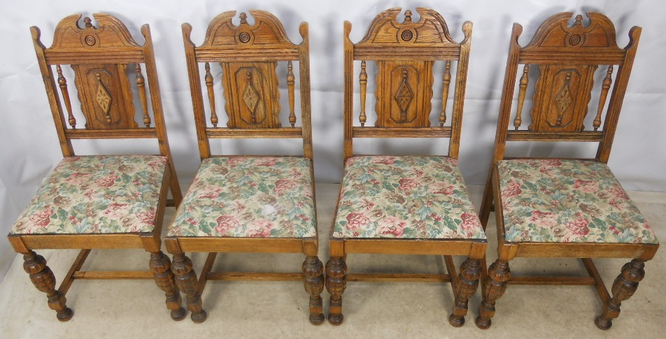 Antique Tiger Oak Dining Chairs Set Of 7 Orlando 34482  : set of four antique style carved oak dining chairs sold 3 1235 p from www.asusual.us size 952 x 485 jpeg 211kB